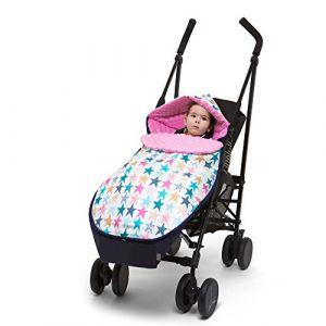 Sevira Kids - Chancelière universelle et imperméable - nid d'ange pour la poussette ou siège auto Candy Stars 2.0