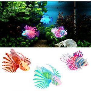 Inconnu Keleily Poisson Artificiel Silicone Peche 3pcs Poisson Artificiel Aquarium Poisson Simulation Faux Poisson Lumineux, Ornement de Poisson Flottant en Mouvement pour Aquarium, Paysage Aquarium (Keleily, neuf)