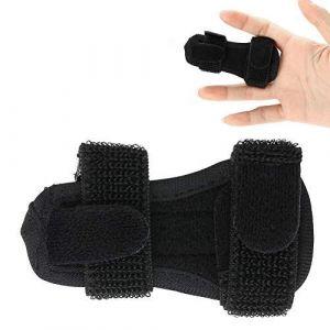 Protecteur de doigt réglable, manche d'attelle attelle doigt adulte, doigt d'attelle attelle de correction fixe pour le soulagement de la douleur de soutien (salmueu, neuf)