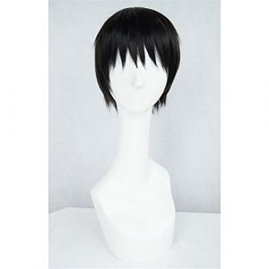 LanTing Cosplay Perücke Tokyo Ghoul Ken Kaneki Perücke Corta Cosplay Party Fashion Anime Human Costume Full wigs Synthetic Haar Heat Resistant Fiber (LANTING TRADE EXPORT LTD, neuf)