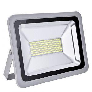 Led Projecteur Leds Ampoules Réglable Imperméable Cour,Terrasse,Square,Usine,Couloir,Spot Floodlight Eclairage extérieur et Intérieur,Lumière Blanc Froid AC220v-240v (Blanc Froid, 150w) (shinning-star, neuf)