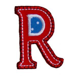 R Rouge Bleu ABC majuscule 9cm pour Jeans Bricoler Enfant Prénom Réparer de repasser surjupechapeauportesacbruantécharpecoussinpantalonsac à dosdrapeauplafondfoulard veste casquette oreiller couvre-lit coussinrobesà personnaliser les cadeaux