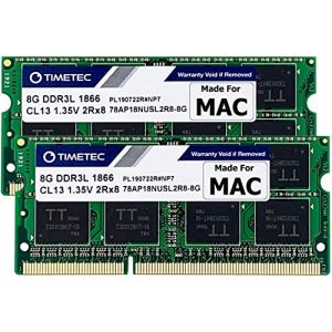 Timetec Hynix IC 16GB Kit (2x8GB) DDR3 PC3-14900 1866MHz Apple iMac 17,1 w/Retina 5K display (27-inch Late 2015) A1419 (EMC 2834) MK462LL/A, MK472LL/A, MK482LL/A (16GB Kit (2x8GB)) (Timetec Inc Europe, neuf)