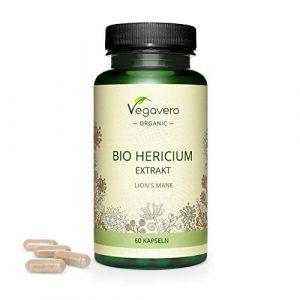 Hericium Erinaceus BIO Vegavero® | Dosage Élevé : 7500 mg | Extrait à 50% de Polysaccharides | Champignon Crinière de Lion | Anti Stress Naturel + Adaptogène | Sans Additifs | 60 Gélules | VEGAN (Vegavero, neuf)
