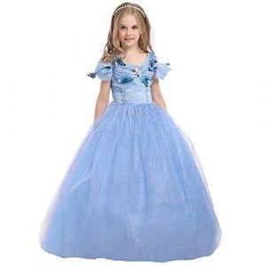 ELSA & ANNA® Filles Reine des Neiges Princesse Partie Costumée Déguisements Robe de Soirée FR-FBA-CNDR5 (2-3 Ans, FR-CNDR5) (UK1STCHOICE-ZONE, neuf)