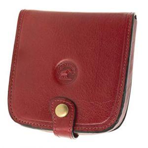 SECRETDRESSING - Porte Monnaie Cuvette Carre Elephant D Or - 100% Cuir de Vachette - Espace pour Billets et Cartes Rouge (secretdressing, neuf)
