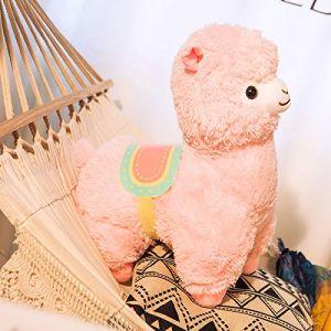 Alpaga mignon en peluche poupée de chiffon poupée poupée femelle agneau rose 50cm (lizhaowei531045832, neuf)