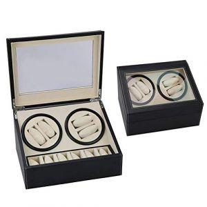 Boîte de montre Double boîte à montres - Montres électriques à remontage automatique d'unité centrale noire (AiSiWeiDianZi, neuf)