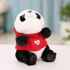Panda Géant Vêtements Poupée, Jouet En Peluche Enfants Poupée Poupée Noir Et Blanc, Cadeau De Poupée De Chiffon 22 Cm Robe Panda Rouge (lizhaowei531045832, neuf)