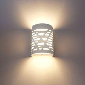 Applique Murale Interieur LED 7W Lampe Murale Blanc Appliques Murales en Plâtre pour Chambre Couloir Salon Cuisine - Blanc Chaud (JMHong, neuf)