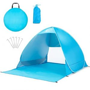 Active Era Tente de plage Pop Up Déployable - protection solaire UV UPF 50+ - Comprend un sac de transport et des piquets de tente (One Retail Group, neuf)