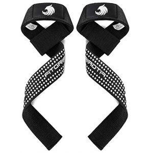 Fitgriff® Sangles de Levage de Musculation (Rembourré), Sangle Poignet, Sangle de Tirage Musculation - pour Femmes et Hommes - Silicone Grip (Fitgriff, neuf)