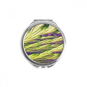 DIYthinker roseaux cluster plume couleur fond d'écran miroir rond maquillage de poche à la main portable 2,6 pouces x 2,4 pouces x 0,3 pouce Multicolore (bestchong, neuf)