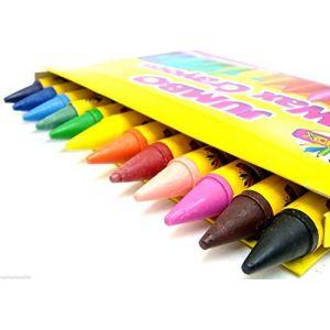 Jumbo Crayons De Cire Enfants Crayons Non Toxique Crayons Enfants Crayola Type Lot De 12 (the-home-fusion-company, neuf)