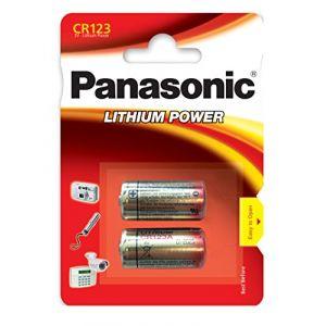 Panasonic CR-123AL/2B Pile Lithium jetable pour Appareil électronique (TELcomponents, neuf)