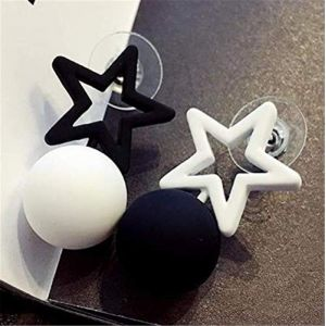 Cadeaux Boucles D'oreilles Coréen Noir Blanc Triangle Carré Pentagramme Boucles D'oreilles Boule Simple Boucles D'oreilles Pour Les Femmes BijouxStyle 3 (Graceguoer, neuf)