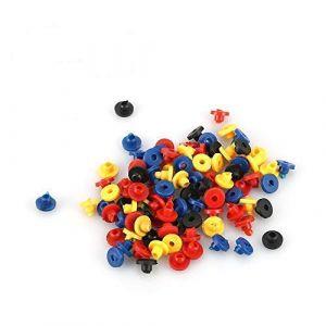 200pcs tétines en caoutchouc colorées à œillet pour le corps artiste Microblading tatouage Machine Pin fournitures (Yotown-eu, neuf)