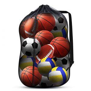 DoGeek Sac à Ballon Grand Sac en Maille Filet pour Sac Filet de Nylon Pliant Rangement Durable Réutilisable (DoGeek-Fr, neuf)