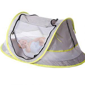 Sinotop Tente de voyage pour bébé, portable bébé Tente de plage UPF 50 + Abri Soleil, Pop Up Moustiquaire et 2 piquets, Super léger bébé Moustiquaire (U-chen, neuf)