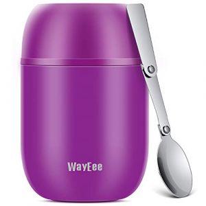 WayEee Boîtes Alimentaires isothermes,Boite Isotherme Repas Chaud Porte-Aliments en Acier Inoxydable à Double Couche pour Ecole Bureau (Violet, 450ML) (Wayeee, neuf)