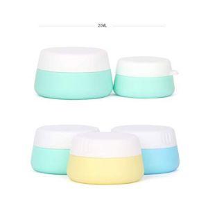 Holzsammlung Boîte Vide de Rangement Maquillage Crème Gel Pots, Silicone Boîte Cosmétiques avec Couvercle Scellés pour Crème/échantillon/Ongles/Fard à Paupières Poudre - 3 Morceaux (20 ml) (collecte de bois, neuf)
