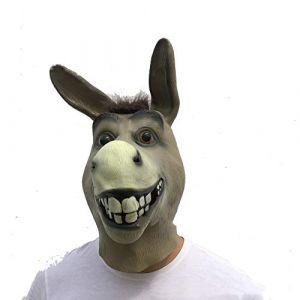 Shrek Poor Mouth Mask Masquerade Props Masque Pour Animaux Taro Halloween Terrorist Latex Headgear (WyaEU, neuf)