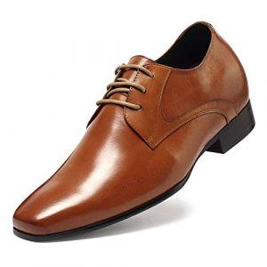 CHAMARIPA Chaussure à Talonnette Grandissante Lacet Oxfords Rehaussante Soulier Soulier - 7cm Plus Grand - D08K02 (CHAMARIPA Shoes, neuf)