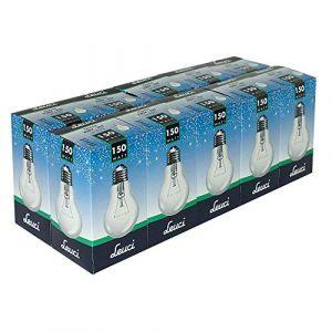 Leuci Lot de 10 ampoules à incandescence transparentes A55 E27 à intensité variable Blanc chaud, E27 150.00W 230.00V (ncc-design, neuf)