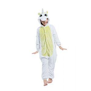 DarkCom Enfants Onesie Kigurumi Pyjama Animal Cosplay Costumes De Bande Dessinée Combinaison De Vêtements De Nuit Vert De La Licorne (DarkCom, neuf)