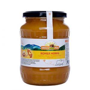 Le miel brut d'ImkerPur, non filtré, non centrifugé ou chauffé, contient du pollen de fleurs, de la cire d'abeille, de la propolis, du pain d'abeille et de la gelée royale, 1 kg (ImkerPur, neuf)