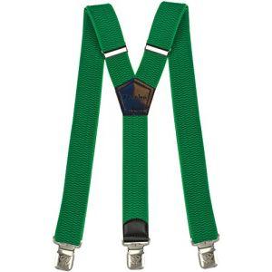 Bretelles Y entièrement réglable pour Homme Femme 4 cm avec 3 Clips élastique Solide Casual Pantalon Jeans Différentes Couleurs Noir, Marron, Bleu (Vert) (Decalen France, neuf)