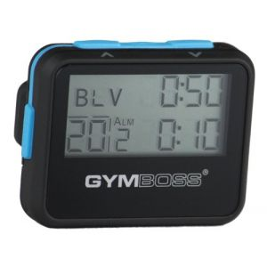 Gymboss Minuteur d'intervalle et chronomètre avec revêtement Soft Touch Noir/Bleu (Gymboss EU, neuf)