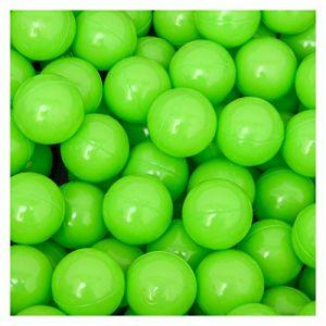 LittleTom 50 Boules en PE 5,5cm de diamètre pour remplir Piscine bébé Vert (einspreis, neuf)