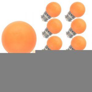 10 Pack B22 Ampoule Couleur 1W Lampe de Couleur 70-100LM Orange Coulrur LED AC 220V-240V Décorer pour les Vacances et Fête (tatalantai, neuf)