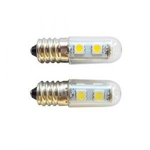 E14 Vis LED Réfrigérateur Lampe Machine À Coudre Lampe 5050 Lampe Perles 1.5 W Ampoule Économie D'énergie Transparent Couverture 220 V Ksruee (MOLIE™, neuf)
