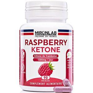 Raspberry ketone complément minceur 400mg / gélule | Pur concentré de cétone de framboise | Brûle graisse et facilite la perte de poids | 90 gélules végétales | Fabriqué en France MironLab (Santilico, neuf)