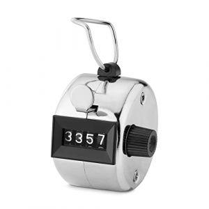 kwmobile Compteur Manuel mécanique - Clic Main pour Compte de Personnes ou Points - Scoreur Sport Manifestation - Boîtier en métal à 4 Chiffres (KW-Commerce, neuf)