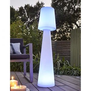 Datalight JLE7051027 Lampadaire Extérieur, Plastique, Blanc, 110 x 25 x 25 cm (Lightonline, neuf)