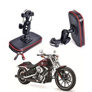 Cheeroyal - Support de téléphone étanche pour moto et vélo - Support universel pour Samsung S7,S8,S9,iPhone 6,6S, 6Plus, 7,7 et8Plus, LG et HTC (cheeroyal, neuf)