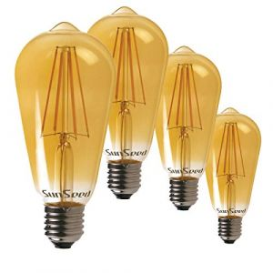 SunSeed 4x Ampoule Filament LED Vintage E27 6W Dimmable Blanc Extra Chaud 2200K (Officine Led, neuf)