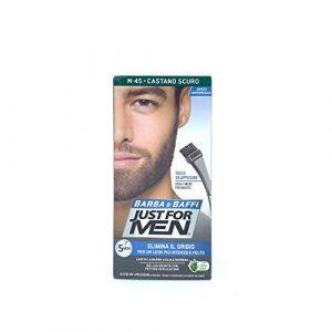 Just for Men - Lot de 6 colorations en gel sans ammoniaque pour barbe et moustaches, avec peigne inclus, châtain foncé, 45ml (CorpoeCapelli, neuf)