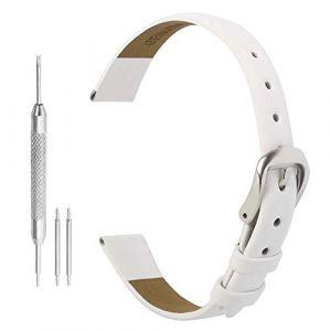 Bracelet de Montre Cuir 10mm Regarder avec Bracelet en Cuir 10 mm Bracelet en Cuir Montre avec Boucle en Acier Inoxydable pour Les Femmes (Autulet Europe, neuf)