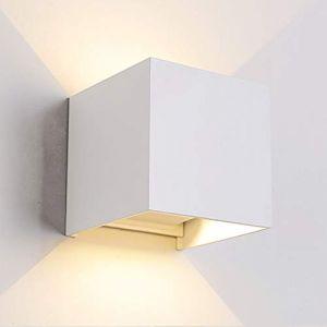 Applique murale moderne pour intérieur/extérieur - Éclairage mural LED avec angle d'éclairage réglable - Étanche IP65 - 3000 K - Blanc chaud (7 W) (TVGO, neuf)