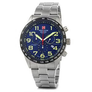 Swiss Military Alpine by Grovana Montre chrono 10 ATM Blue 7047.9135sam (uhrenonline24, neuf)