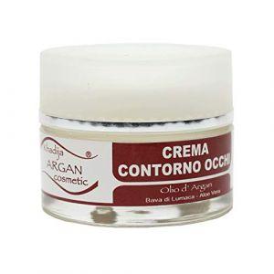 Crème contour des yeux 30 ml, avec huile d'argan pure bio produite au Maroc par l'agriculture biologique certifiée, bave d'escargot et aloe vera. Anti-âge, lissant, effet lifting. (Display Store, neuf)