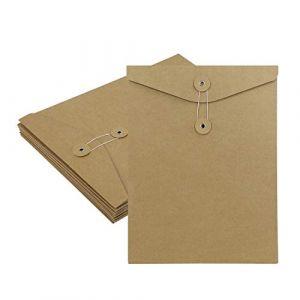 10pcs A4 Chemise Cartonnée, Dossier de Fichiers à Insertion en Papier Kraft, Porte Document Organisateur Stockage Contrat Rapports pour Société Bureau Maison Scolaire (JiahongUK, neuf)