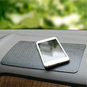Tapis de voiture Anti-dérapant Silicone Universel Support pour Smartphone Tablette - Tableau de Bord / Table de Bureau - Noir 30cm*15cm (iitrust, neuf)