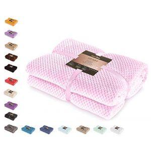 couvre lit en rose comparer 106 offres. Black Bedroom Furniture Sets. Home Design Ideas