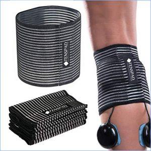 TENSPAD SILVER Ensemble de 4 Bandes élastiques avec Velcro pour Maintenir Les électrodes (TENSPAD, neuf)