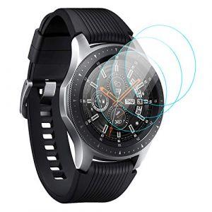 Kimilar Samsung Galaxy Watch 46mm Protection Écran, [3 Pack] 9H Dureté Anti-Scratch Anti-Bulles Protecteur D'écran en Verre Trempé pour Samsung Galaxy Watch (46mm) (EZEU, neuf)